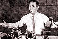 Юрий Левитан читает специальный выпуск «Последних известий» Всесоюзного радио (12 апреля 1961 года). Сообщение ТАСС о первом в мире полете человека в космическое пространство